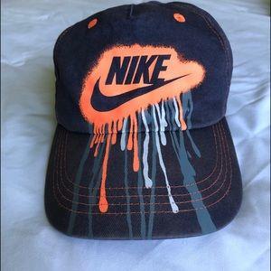 Nike cap.
